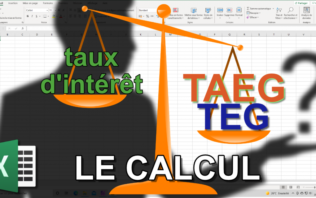 Le taux effectif d'un emprunt : TEG TAEG (Focus)