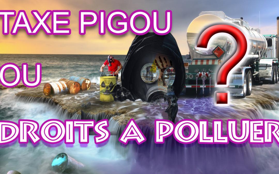 Taxe Pigou ou droits à polluer? Quelle est la meilleure solution?
